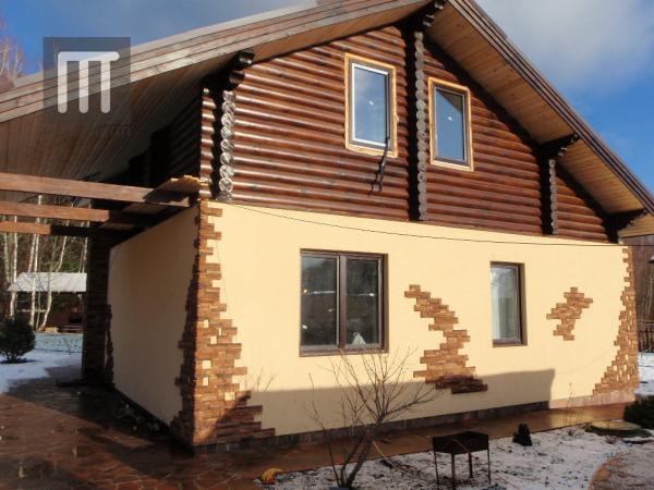 Проект Шале - 7, Комбинированные дома (камень+дерево)