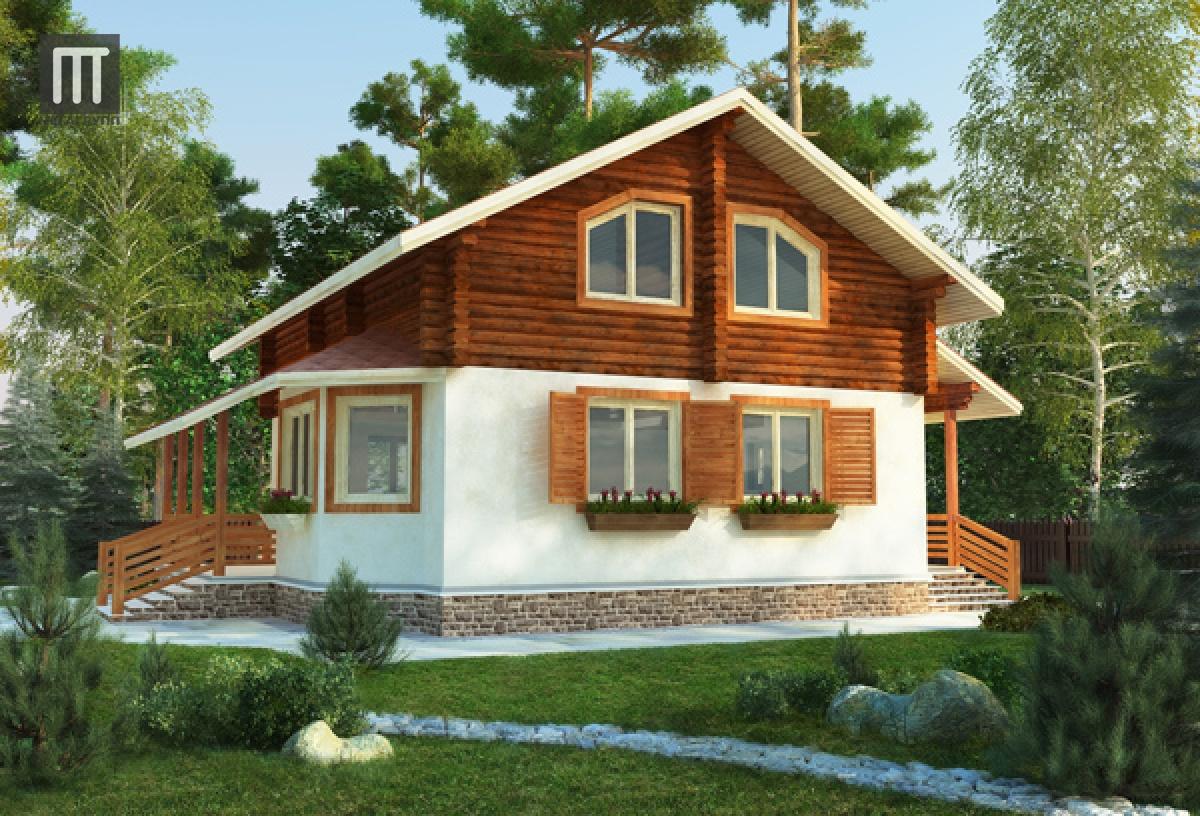 Фото деревянного дома шале 15